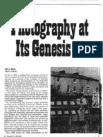Photography at Its Genesis