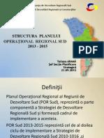 Prezentarea planului operaţional regional pentru 2013-2015