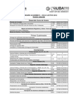 Calendario Académico 2012 - Sociología - UBA