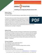 Win Server 2012 Contenido Curso 20410a