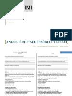 estiGimi-Angol érettségi szóbeli tételei