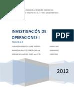 Problemas de Investigacion de Operaciones