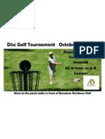 Disc Golf Tournament Long Flyer