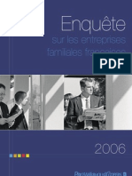 Enquête sur les entreprises familiales françaises 2006 PriceWaterhouseCoopers