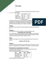 Unidad 3 Modelo Relacional Resumen