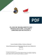 Estudio Diagnosticos y Planes de Mejoramiento SEP