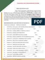 EDITAL DE CONVOCAÇÃO - CONCURSO PÚBLICO 2010