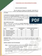 EDITAL DE SELEÇÃO Nº 001-2011
