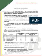 EDITAL DE SELEÇÃO Nº. 002-2011