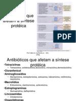 Antibióticos que afetam a síntese protéica