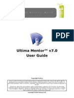 Ultima Mentor 7.0 User Guide