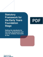 eyfs statutory framework march 2012