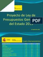 Presupuestos Generales del Estado 2013