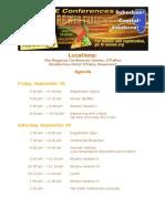 CORE Conferences Agenda 2012