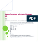 Como Formatear e instalar Windows Xp