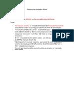 Relatório de atividades diárias 20-09-2012