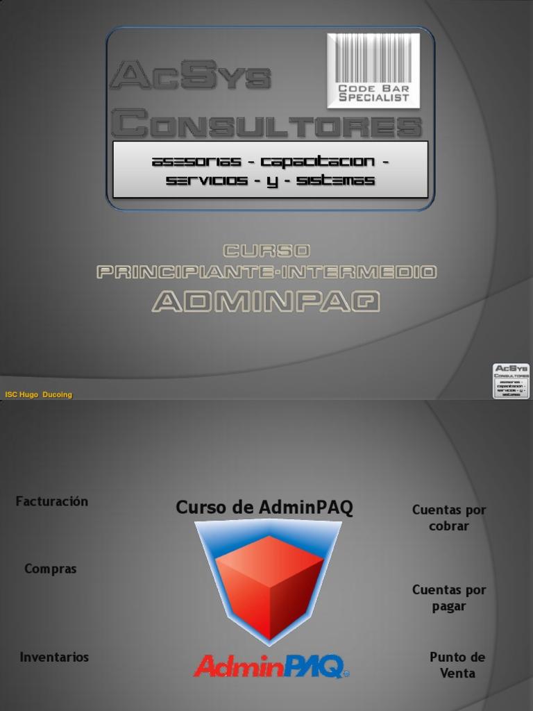 modulo de capacitacion adminpaq
