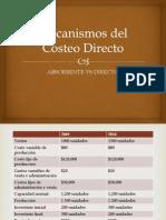 Mecanismos Del Costeo Directo