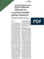 20120926 LeMonde Escandalo Corrupcion Italia