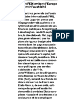 20120926 LeMonde FMI FED Piden Ralentizar Austeridad
