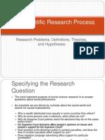 The Scientific Research Process