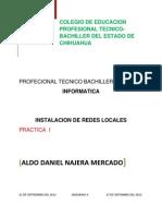 Practica 1 Intalacion de Redes Locales