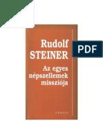 Rudolf Steiner - Az Egyes népszellemek Missziója