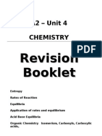 Revision Booklet Unit 4 Chemistry Edexcel