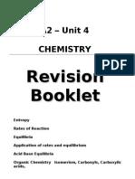 Revision Booklet Unit 4 Chemistry Edexcel