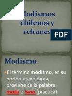 Modismos Chilenos y Refranes