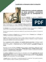 ArtÌculo publicado en Alemania sobre España 18-09-12