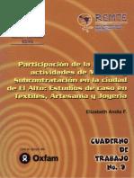 Participación de la Mujer en actividades de Maquila y Subcontratación en la Ciudad de El Alto. Estudios de caso en Textiles, Artesanía y Joyería. Elizabeth Andia Fagalde