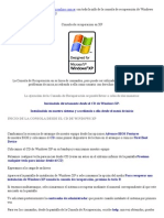 Consola de Recuperacion en XP