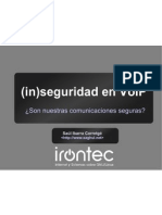 (in)Seguridad en VoIP