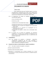 Reglamento de Grados (Ucv) 2012