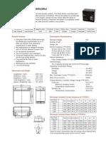 Vision Battery Fm Series Agm Ficha En