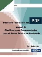 Manual de Clasificaciones Presupuestarias minfin