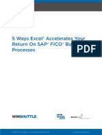 5 Wyas Excel Accelerates Your Return on SAP FICO Business Processes