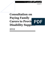 Consultation on Paying Family Carers