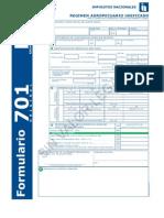 Formulario RAU 701