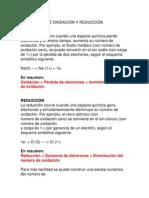 CONCEPTOS DE OXIDACIÓN Y REDUCCIÓN