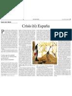 Xavier Sala i Martín. Crisis (6)-España