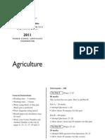 (2011) Agriculture HSC Exam