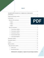 DELIMITACIÓN CONCEPTUAL Y ORIGEN DE LA PSICOLOGÍA EVOLUTIVA
