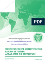 The Prospects for Security Sector Reform in Tunisia