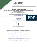 The Future of Urban Sociology
