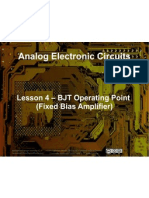 Small Signal Amplifiers - Lesson 4 - BJT Operating Point