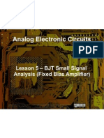 Small Signal Amplifiers - Lesson 5 - BJT Small Signal Analysis