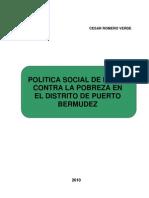 Politica Social de Lucha Contra La Pobreza Puerto Bermudez