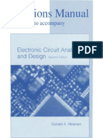Solution Manual - Electronic Circuit Analysis and Design Neamen